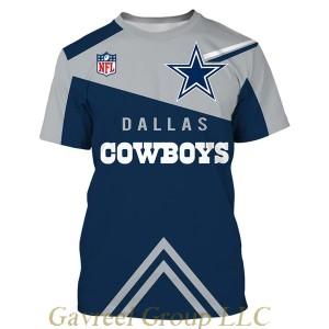 NFL T shirt For Sale 3D Custom Dallas Cowboys T shirts Cheap For Fans